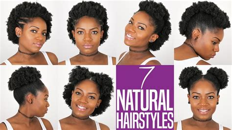 7 natural hairstyles for to medium length natural hair 4b 4c hair youtube