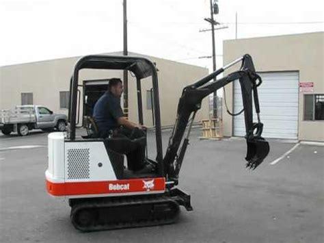 bobcat  mini excavator rubber tracks  hrs kw engine youtube