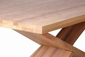Table Bois Massif Contemporaine : table en bois massif design brin d 39 ouest ~ Teatrodelosmanantiales.com Idées de Décoration