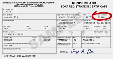 Florida Vessel Registration Number Lookup by Ri Gov Dem Boat Registration Renewal