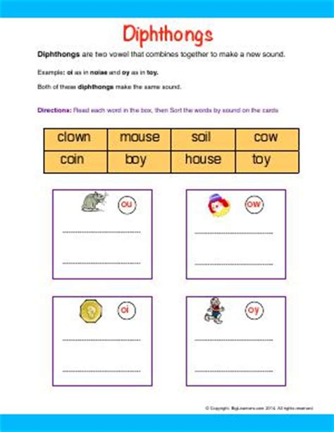 blends digraphs  diphthongs  grade english