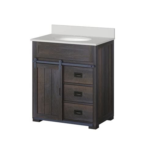 style bathroom cabinets shop style selections morriston distressed java undermount single sink bathroom vanity with