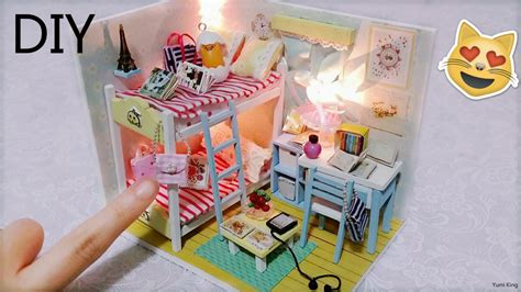 Diy Miniature Dollhouse With Full Furniture Sets&lights