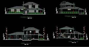 2 Storeys House With Garden 2d Dwg Full Project For
