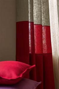 Rideaux En Lin Naturel : les 25 meilleures id es concernant rideaux rouge sur ~ Dailycaller-alerts.com Idées de Décoration