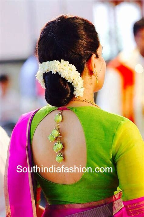 Simple Blouse Design for Traditional Sarees ? South India
