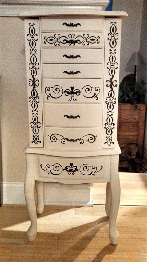 Painted Jewelry Armoire Jewelry Armoires And Jewelry Armoire On