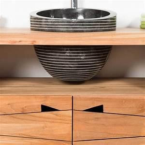 vasque a poser en marbre eden inclinee noire d 26 cm With vasque salle de bain originale