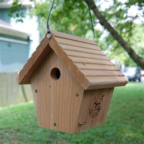 wbc cedar hanging wren bird house wild bird centers