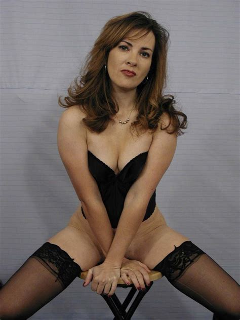 Brunette Mom Stripping Her Business Suit Revealing Her
