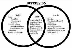 How Does Depression Occur And Affect Happiness   Venn Diagram   U2013 Beautiful Biological Questions