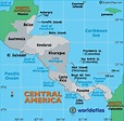 Central America Map - Map of Central America Countries ...