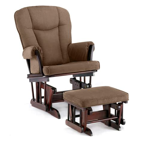 nursery rocker with ottoman shermag glider and ottoman espresso chocolate