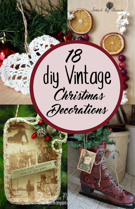 diy  fashioned christmas decorations