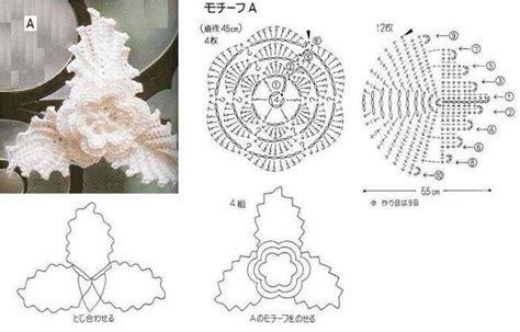 fiori all uncinetto schemi e spiegazioni fiore e foglie schema uncinetto magiedifilo it punto