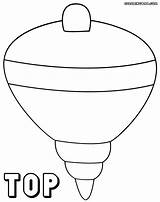 Coloring Toy Top1 Coloringway sketch template