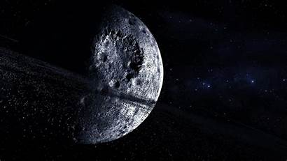 Moon Space Outer Crater Stars Digital Wallpapers