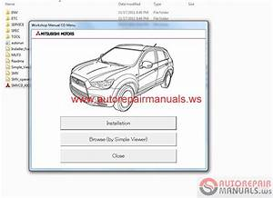Mitsubishi Asx 2012 Workshop Manual