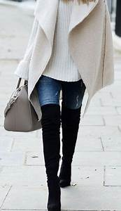 Cream jeans outfit