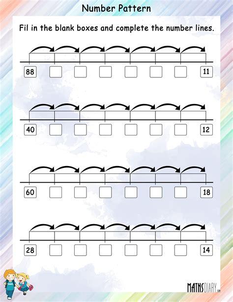 number pattern   number  math worksheets