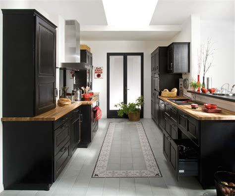 meuble de cuisine noir laqué organisation meuble de cuisine noir laque
