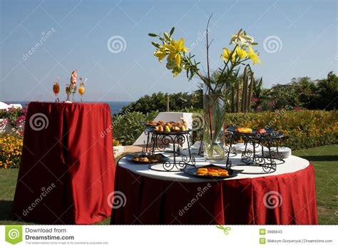 Outdoor Cocktail Party In Seaside Resort Stock Photos