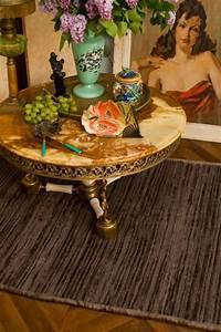 Table Basse Boheme : table basse ancienne ronde ann es 30 1930 albatre laiton angelots ~ Teatrodelosmanantiales.com Idées de Décoration
