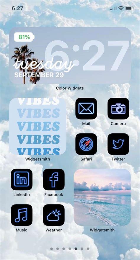 blue aesthetic wallpaper iphone ios 14