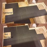 how to tile flooring - When tiling a floor must I start in the middle ...