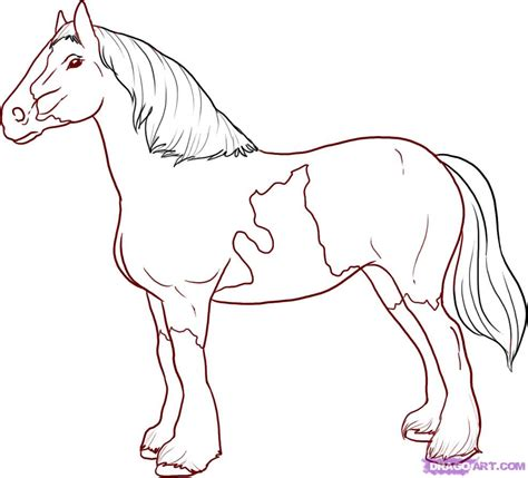 draw  horse step  step easy