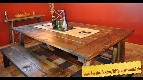 build  farmhouse table   complete video