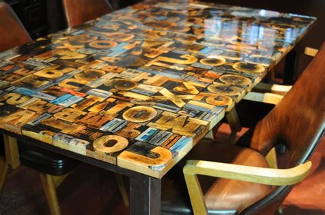how to make a resin table top print block table cast in resin tables pinterest