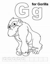 Gorilla Coloring Letter Pages Phonics Zoo Handwriting Gordo Craft Sheets Sheet Practice Preschool Alphabet Letters Colouring Printable Animal Animals Bestcoloringpages sketch template