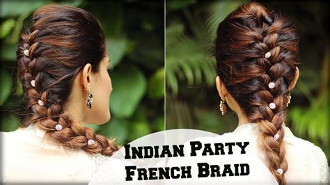 EASY French Braid Ponytail Hairstyle For Indian Wedding