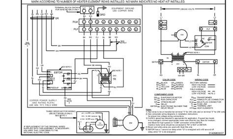 Wiring Diagram For Electric Heat by Goodman Electric Heat Wiring Hvac Diy Chatroom