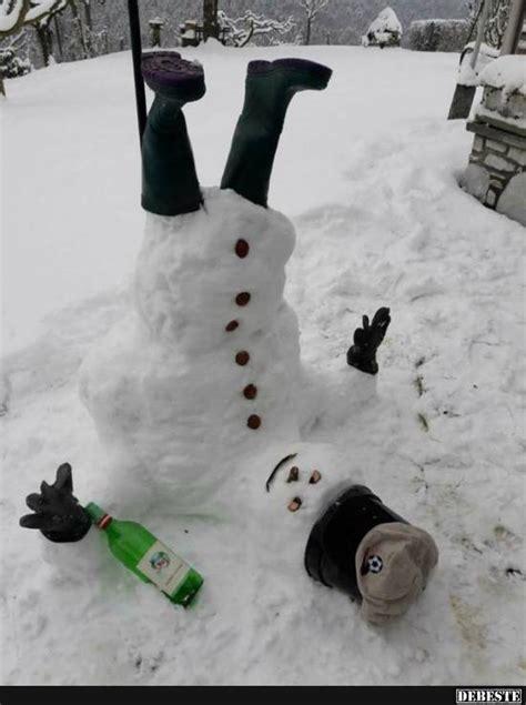 betrunkener schneemann lustige bilder sprueche witze