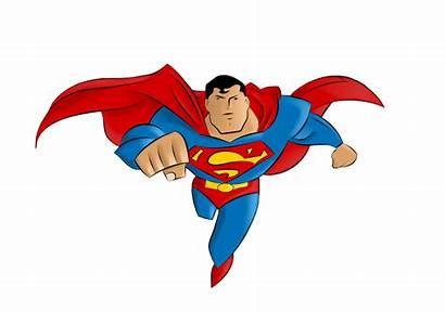 Superman Cartoon Famous Clip Clipart Characters Vector