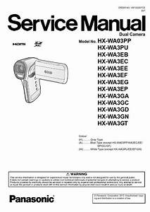 Panasonic Hx Wa3 Wa03 Camcorder Service Manual And Repair