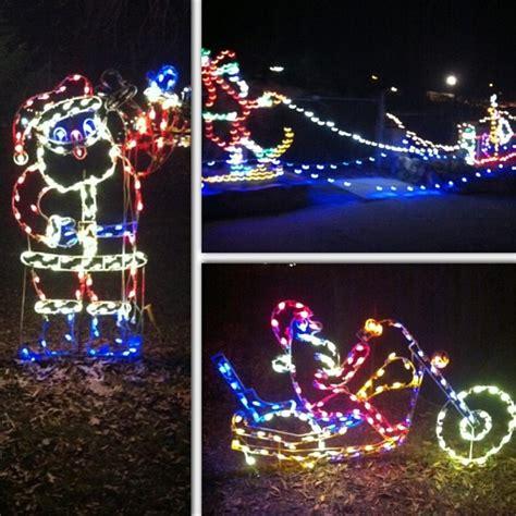 santa on motorcycle christmas lights christmas lights