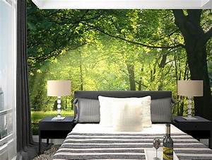 beibehang wallpaper Idyllic natural scenery and flowers ...
