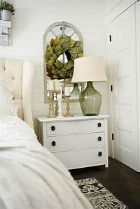 nightstand decorating ideas One Horn White Nightstand Makeover