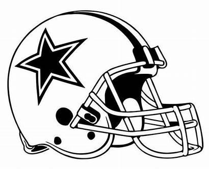 Cowboys Dallas Helmet Football Coloring Screen Clipart
