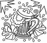 Beer Coloring Shamrocks Glass Template sketch template