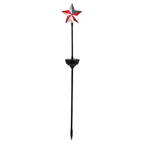 red white and blue solar lights american star outdoor solar stake light in red white blue