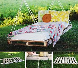 DIY Pallet Swing Bed - Do-It-Yourself Fun Ideas