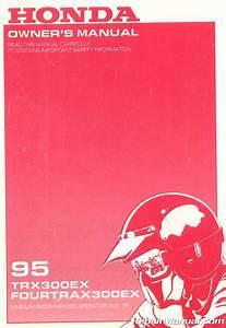 1995 Honda Trx300ex Fourtrax Atv Owners Manual