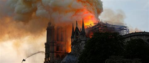 couldnt firefighters douse  flames  notre dame