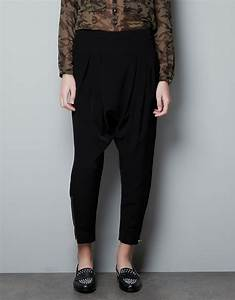 Black Harem Pants Women Outfit  Simple Brown Black Harem Pants Women Outfit Minimalist ...