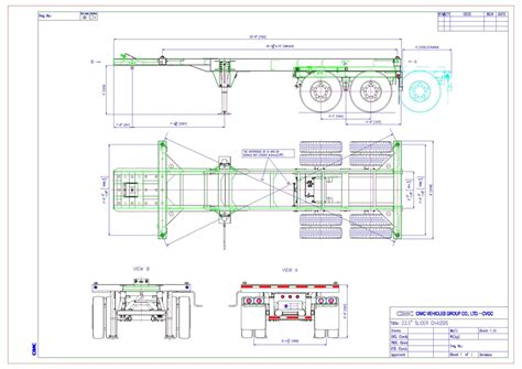 tandem slider chassis cimc intermodal equipment