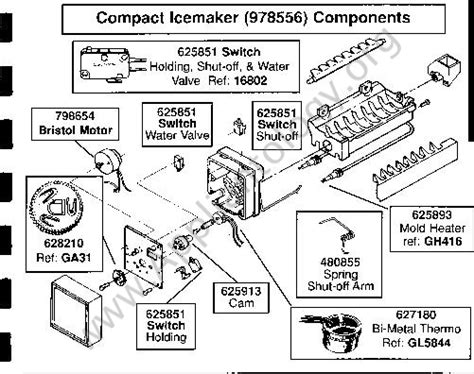 Whirlpool Thermistor Wiring Diagram by Whirlpool Ild Style Icemaker Breakdown Diagram The